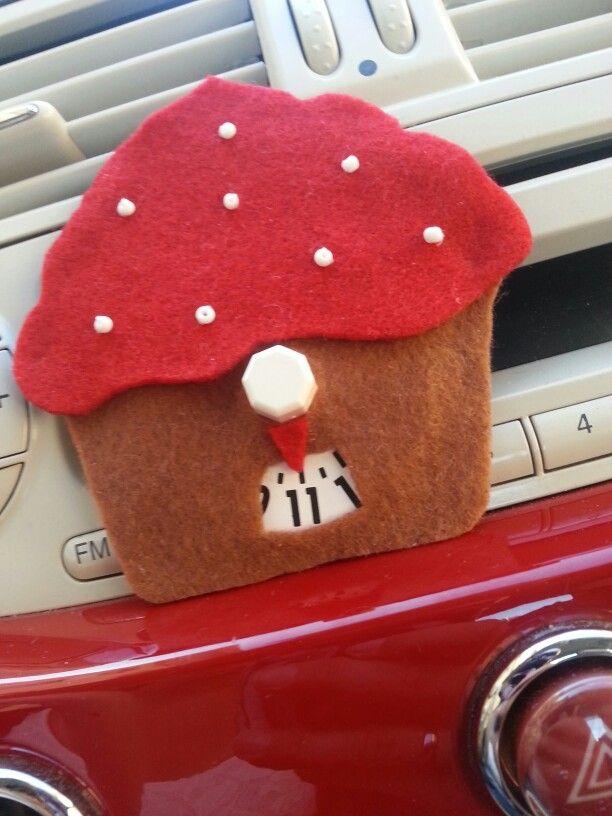 Disco orario per auto a forma di cupcake #discoorario #craft #diy #cupcake