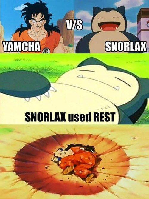 Yamcha vs Snorlax