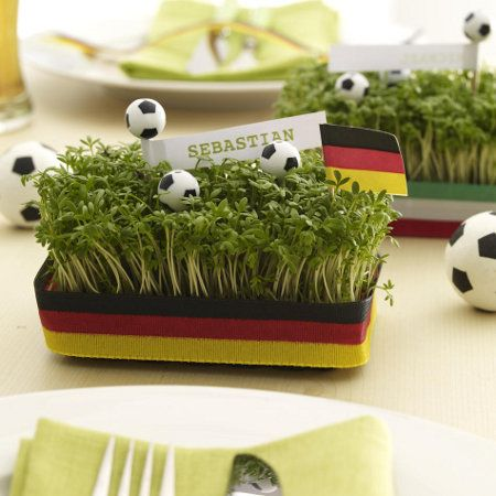 Party deko fu ball15 communie pinterest coupe ems for Deko deutschland
