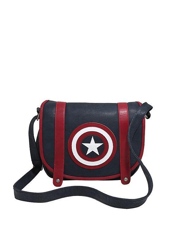 Loungefly Marvel Captain America Shield Saddle Bag