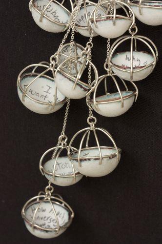 Laura Elizabeth Mullen: copper, enamel, graphite