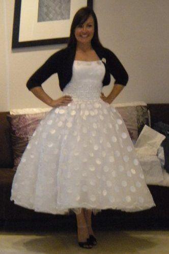 Cute Rockabilly Wedding Dress