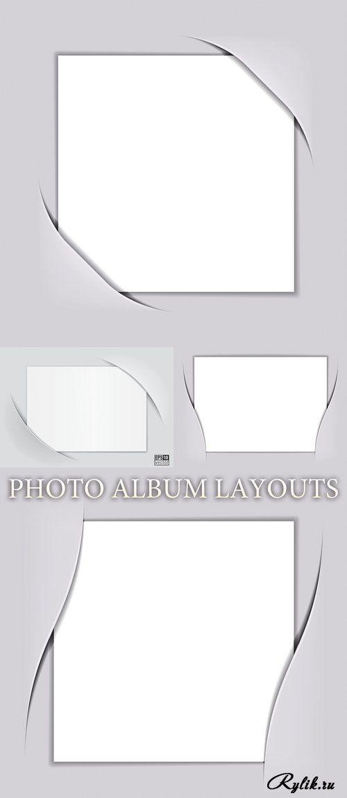 Макет фотоальбома - векторный клипарт