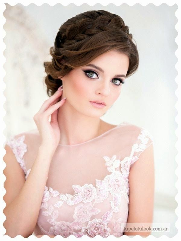 peinados 2015 para novias recogidos trenzas