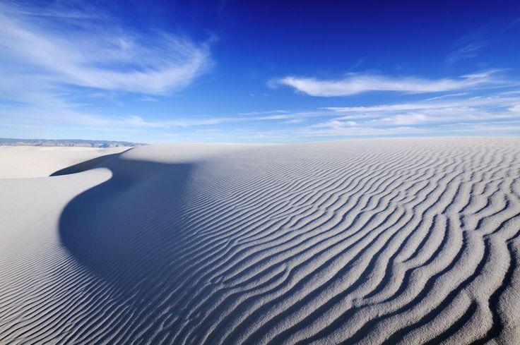 Nouveau-Mexique - Les dunes de sable blanc, comme du sel ou de la neige