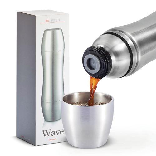 Wave vacuum flask