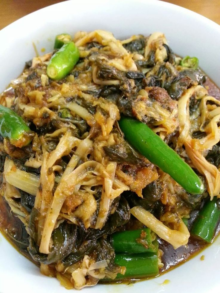 Sour Leave and bamboo shoot Traditional food, Burmese