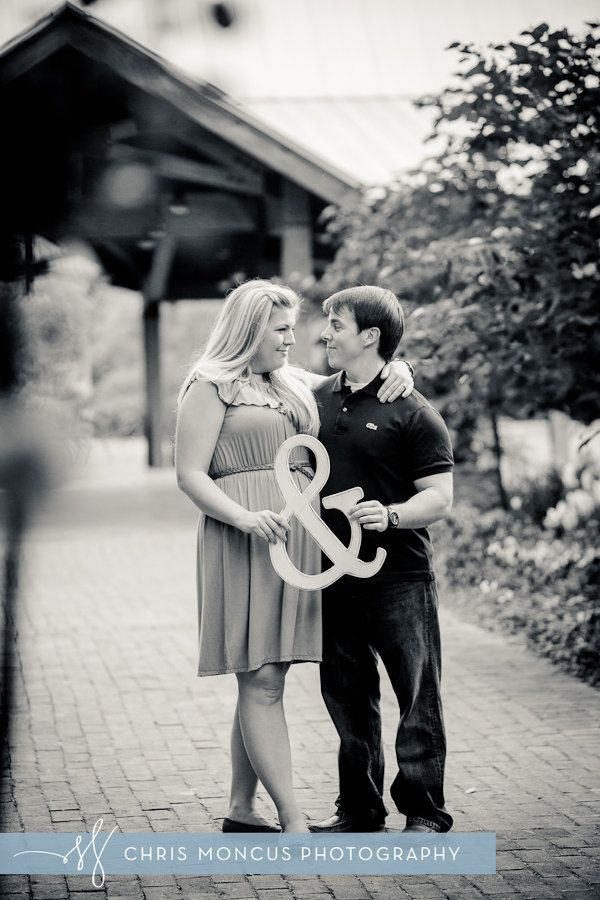 """Wedding and Engagement Photo Prop Wooden & 18"""" Ampersand. $35.00, via Etsy."""