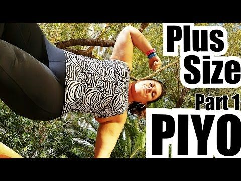 Plus Size PIYO - Modify Part 1 - Weightloss - YouTube