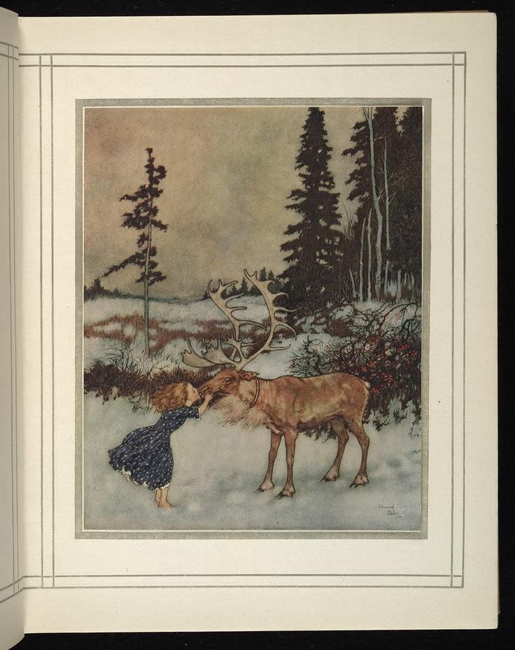 Gerda and the Reindeer - Edmund Dulac