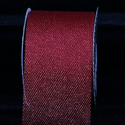 """Metallic Red Imperial Tulle Craft Ribbon 3"""" x 54 Yards ** You can get more details by clicking on the image."""
