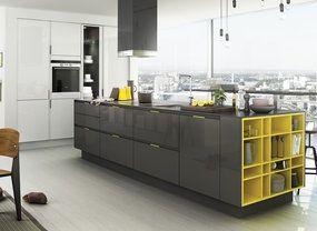 Keukens Zwartwit Nieuwenhuizen : Moderne decoratie drie zones keuken. top beautiful kitchen with