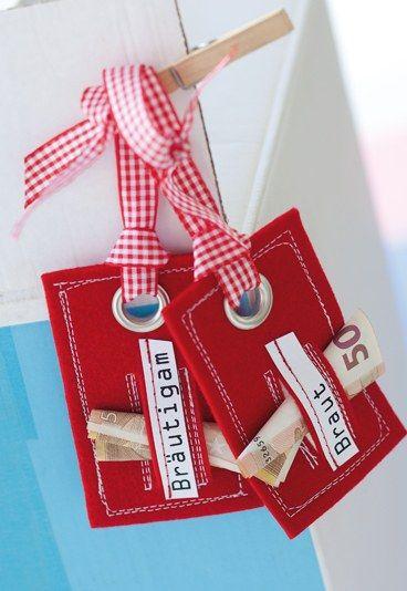 Geldgeschenkverpackung: Kofferanhänger