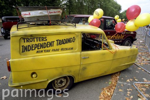 """Del Boy's three wheeler Robin Reliant van as seen in TV's """"Only Fools and Horses"""""""