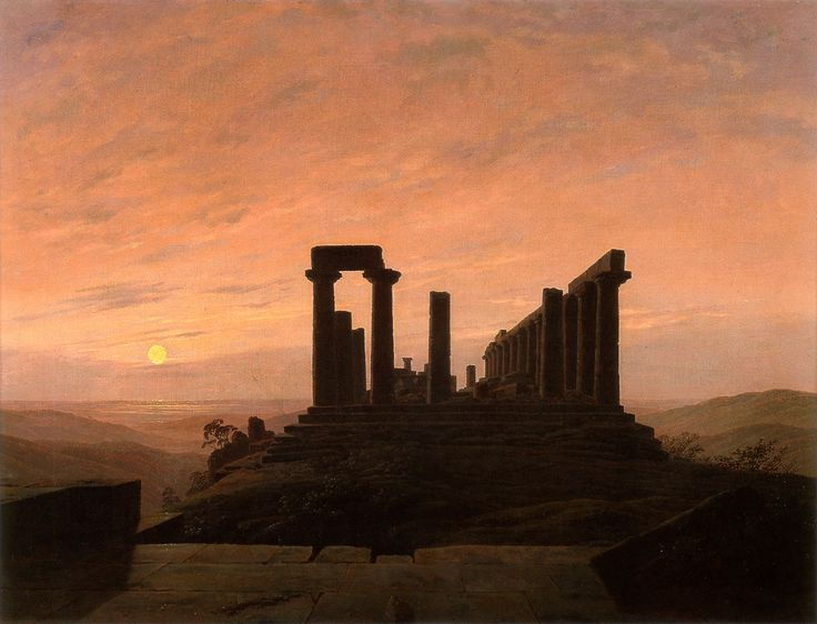 Caspar David Friedrich, The Temple of Juno in Agrigento c.1828-1830