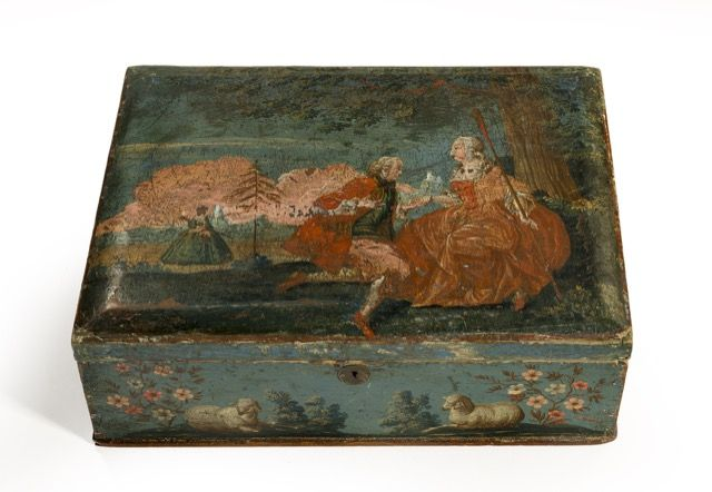107-Rare-Swedish-painted-box-depicting-a-pair-of-lovers-C18th.jpg (640×442)
