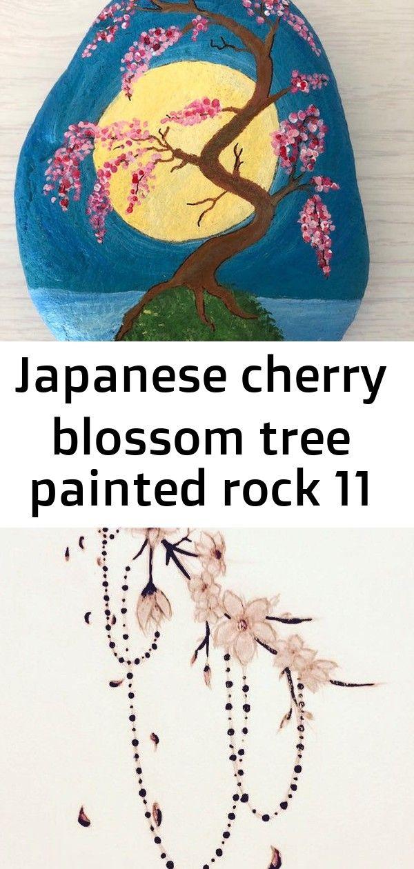 Japanese Cherry Blossom Tree Painted Rock 11 Japanese Cherry Blossom Cherry Blossom Tree Japanese Cherry