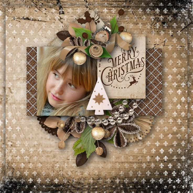 """Wooded Breeze Of Christmas"" by Aurélie Scrap, http://digital-crea.fr/shop/index.php?main_page=product_info&cPath=155_460&products_id=26281, photo Pezibear, Pixabay"