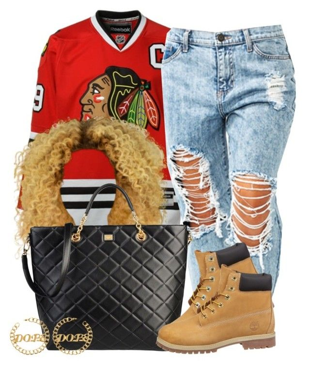 Untitled #664 by perfectlyy-imperfect on Polyvore featuring polyvore fashion style Reebok Dolce&Gabbana Timberland clothing