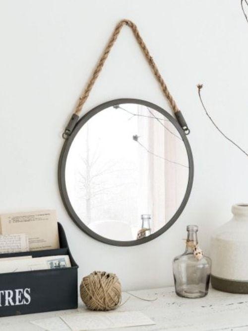 Miroir rond style bord de mer