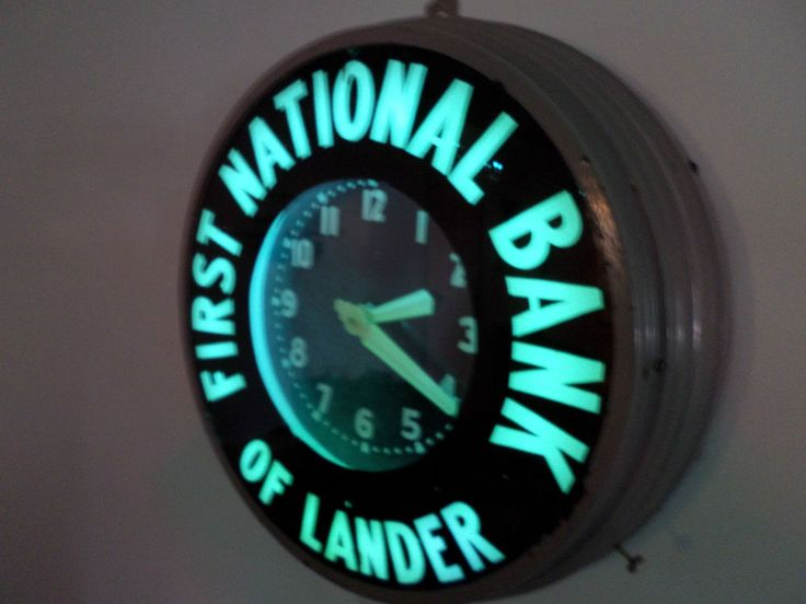 Vintage Glo Dial Neon Clock Wyoming Advertising Gas