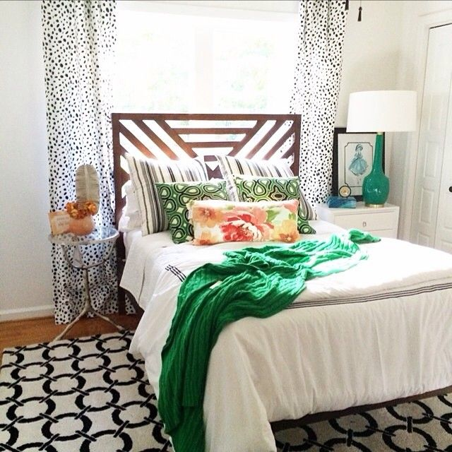 This beautiful bedroom by krystine_edwards has us green with envy! #HomeGoodsHappy via Instagram