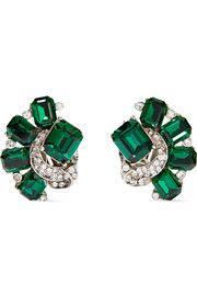 Ben-AmunSilver-tone crystal earrings