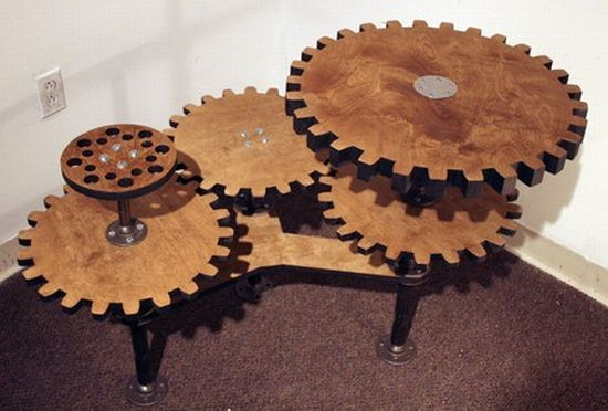 this one is wood, but I would LOVE to see this with actual recycled metal gears. How cool would that be?