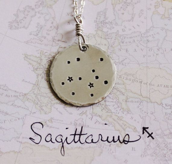 Sagittarius necklace sterling silver necklace by ZennedOut on Etsy