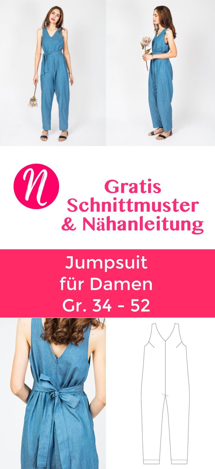 Jumpsuit für Damen – free of charge Schnittmuster