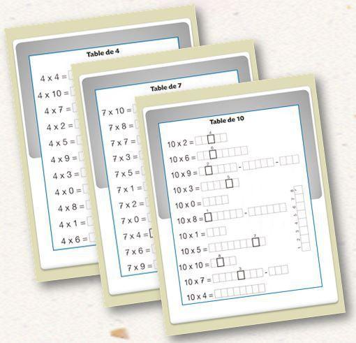 17 meilleures images propos de maths pour les enfants - Entrainement tables de multiplication ...