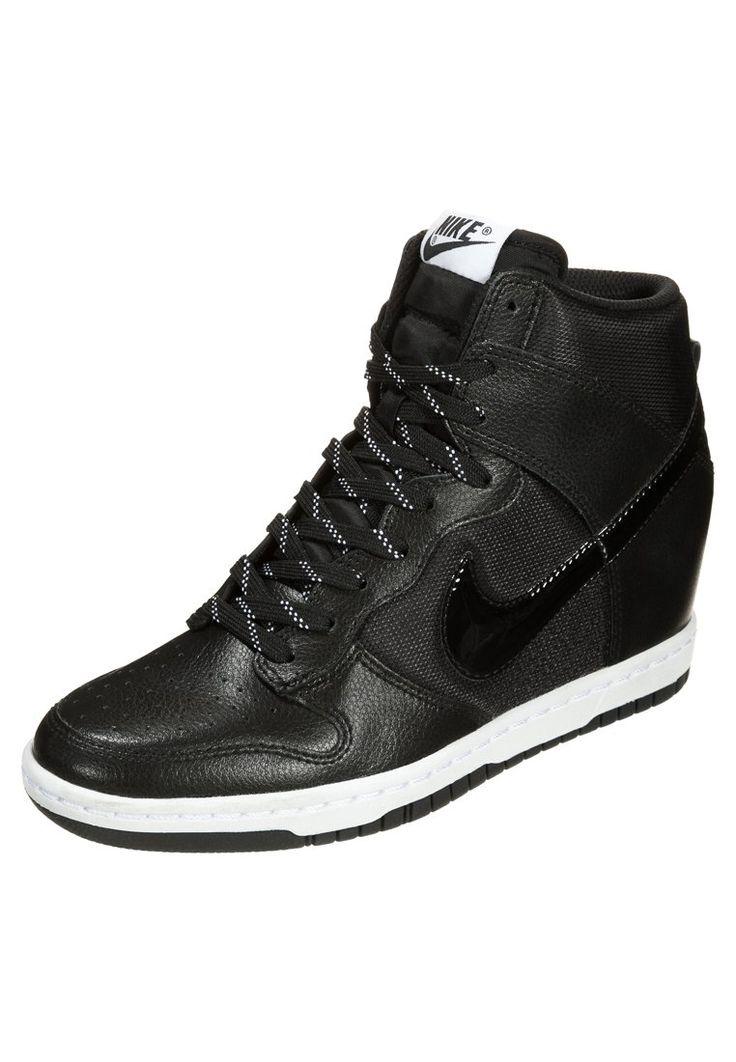 Nike Sportswear DUNK SKY - Høye joggesko - black/white - Zalando.no