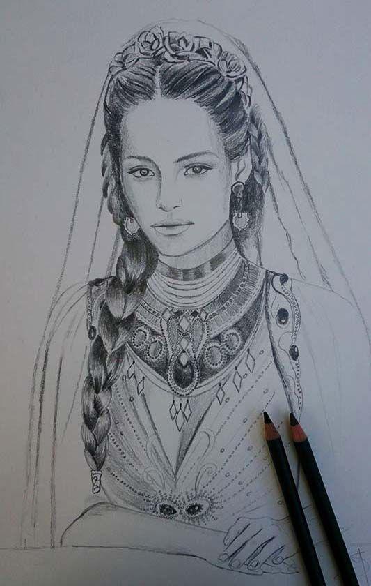 Сильмариэн, несостоявшаяся королева Нуманора Sketch in progress - Silmarien of Numenor by Ladyoftheflower