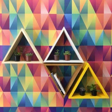 Nicho de Parede Triângulo Natural! - Tadah! Design