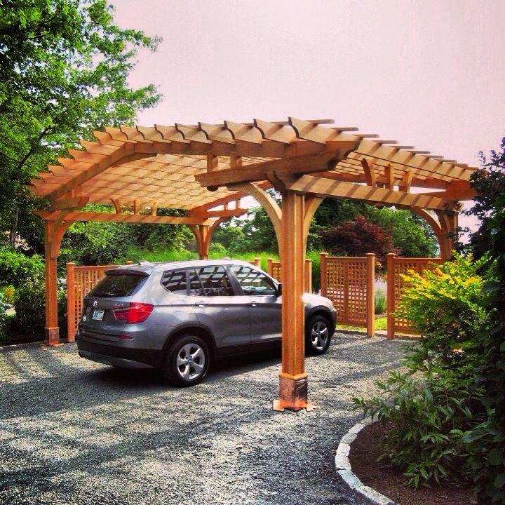 17 best images about driveway ideas on pinterest for Trellis carport