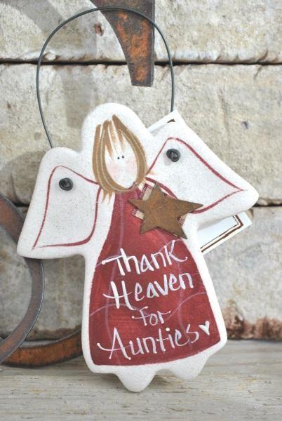 Aunt Birthday, Christmas Gift Salt Dough Ornament – Cookie Dough Creations