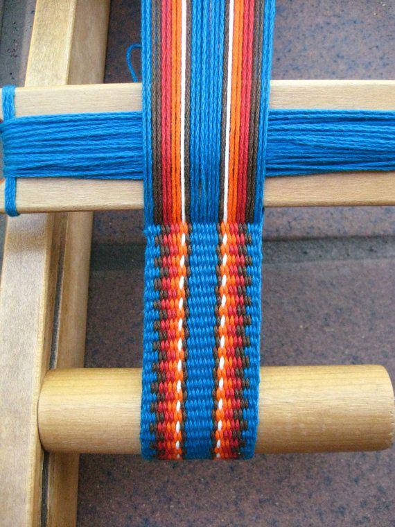 Woven belt by ASpinnerWeaver on Etsy $36
