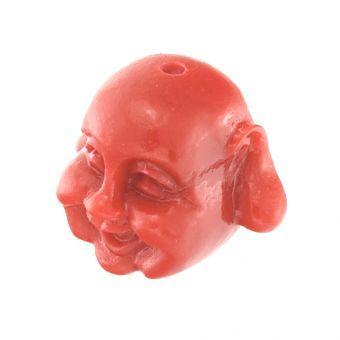 kronjuwelen.com   Motivperle, 12X8mm, Buddha, orange orange   online kaufen