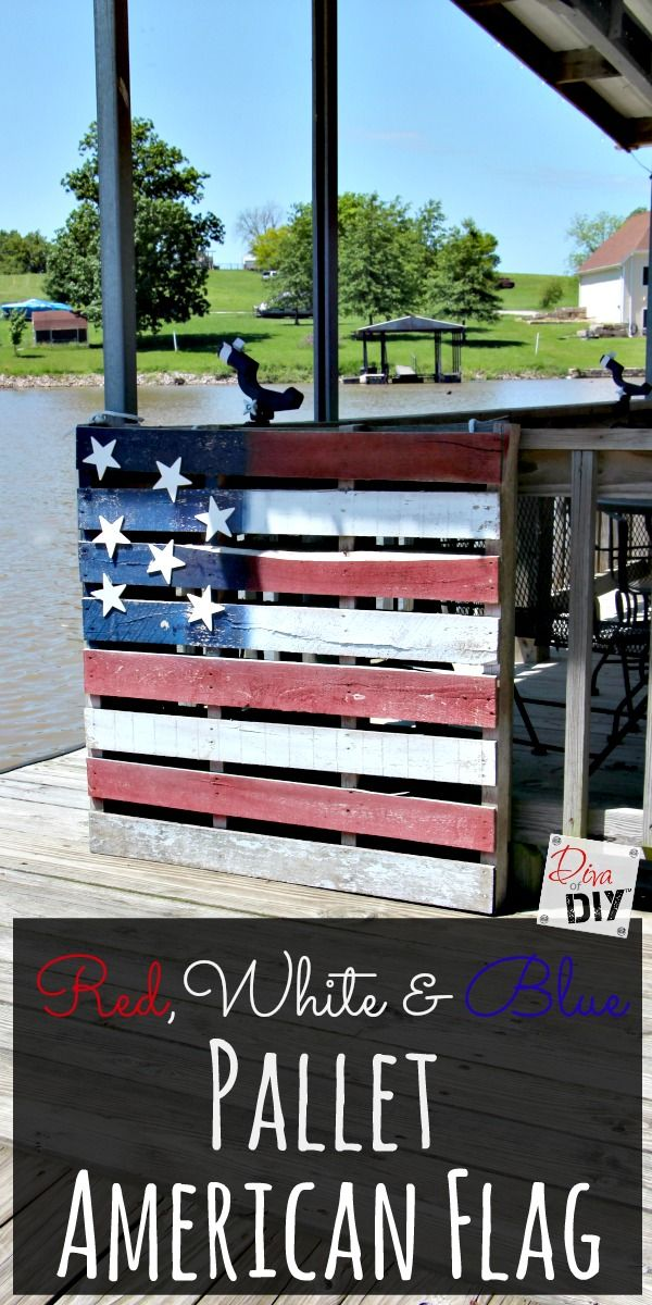 A cheap and easy American Flag Pallet Project that you can complete today! The perfect decoration for the 4th of July Party or Memorial Day!