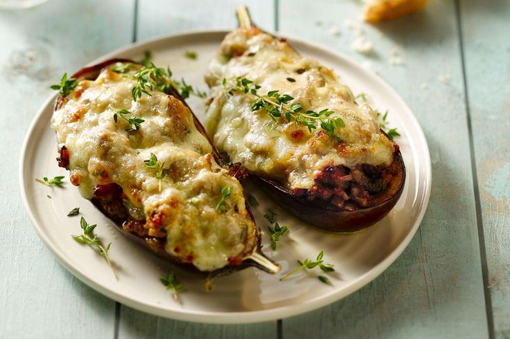 ovenschotel - gemengd gehakt, aubergines, ... - Verwarm de oven voor op 180 °C.