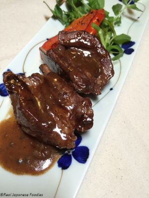 Pork Spareribs with Red Wine and Miso
