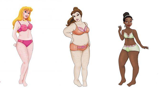 Princesas da Disney com corpos reais | Macetes de Mãe
