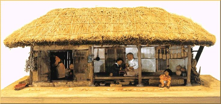 Korean traditional house where Heungbu the younger brother lived. Poor/farmers usually lived in these kind of houses.