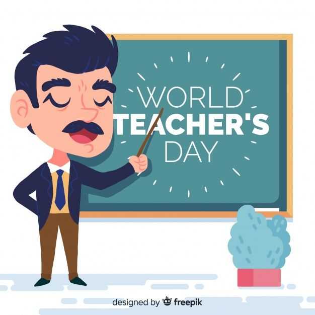 Download World Teachers Day Composition Professor With Chalkboard For Free In 2020 Teachers Day World Teachers World Teacher Day