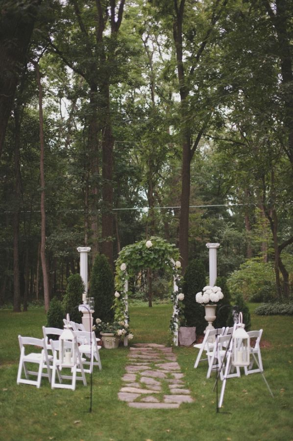 Small Michigan Backyard Wedding Yard wedding, Wedding