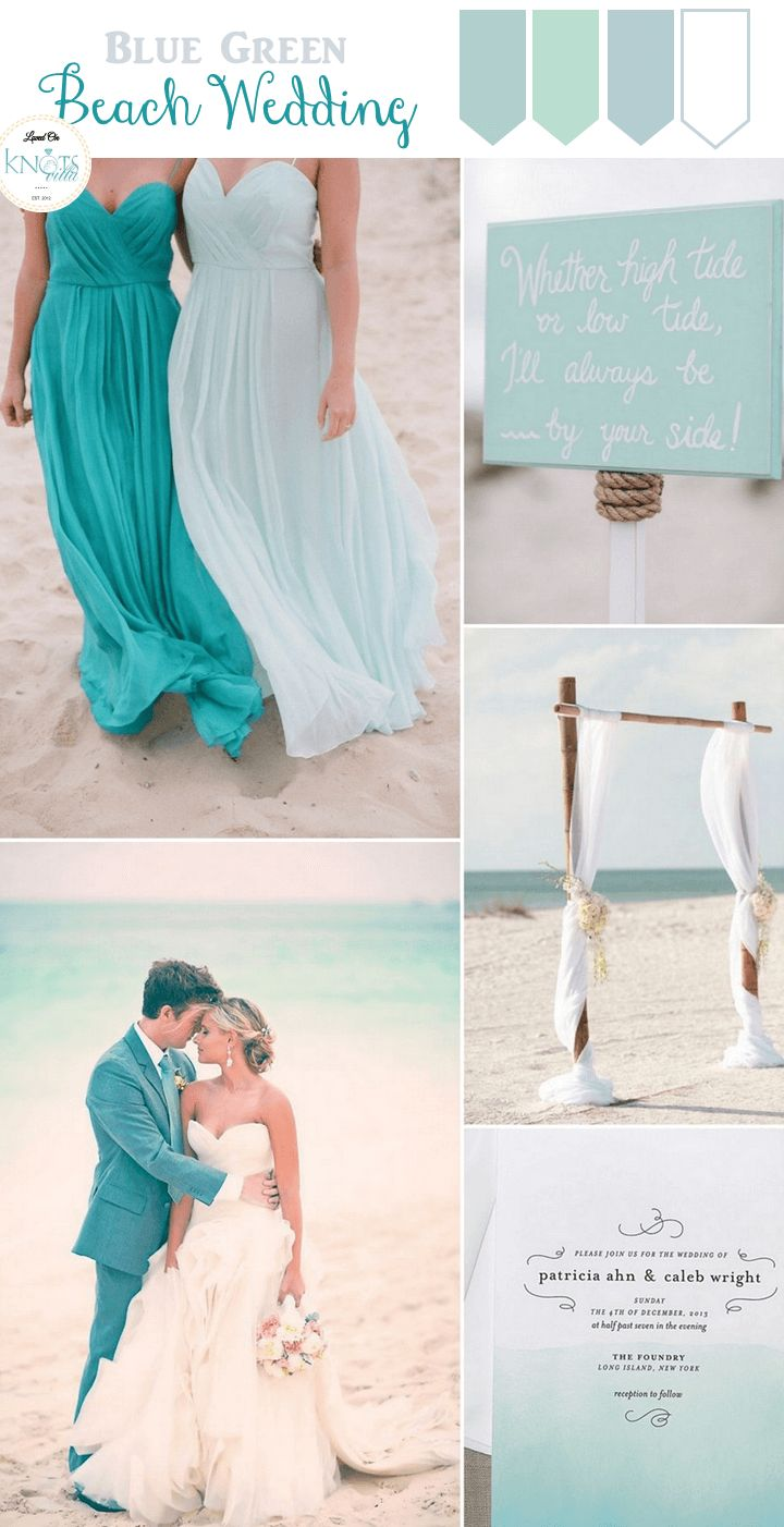 Blue Green Beach Wedding Inspiration - KnotsVilla