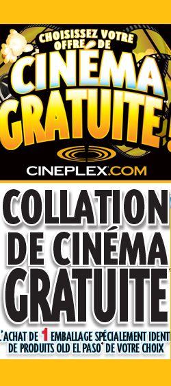 Cinéma gratuit avec achat. Fin le 29 mai.  http://rienquedugratuit.ca/activite/cinema-gratuit-avec-achat/