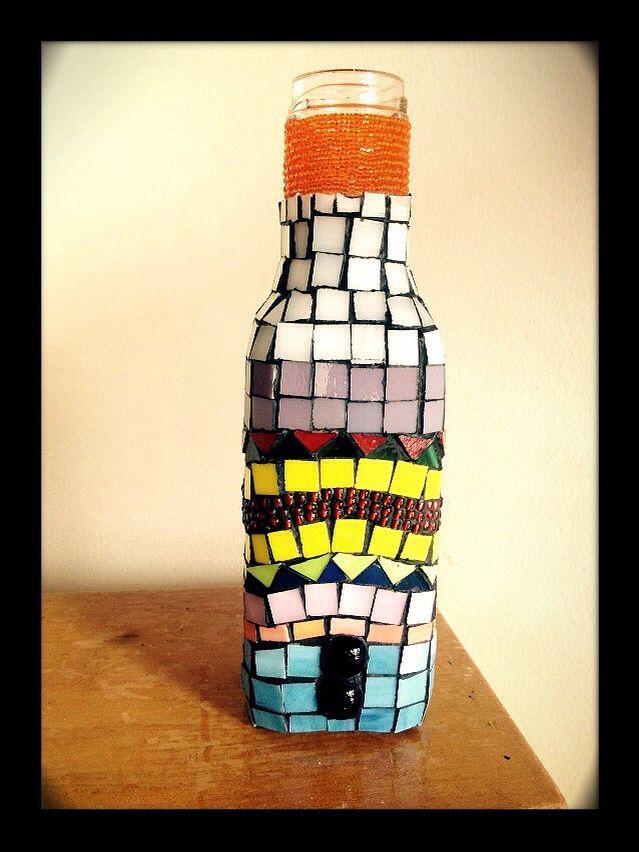 Botella mosaico