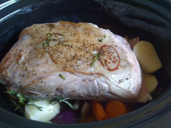 Slow cooker lamb shoulder