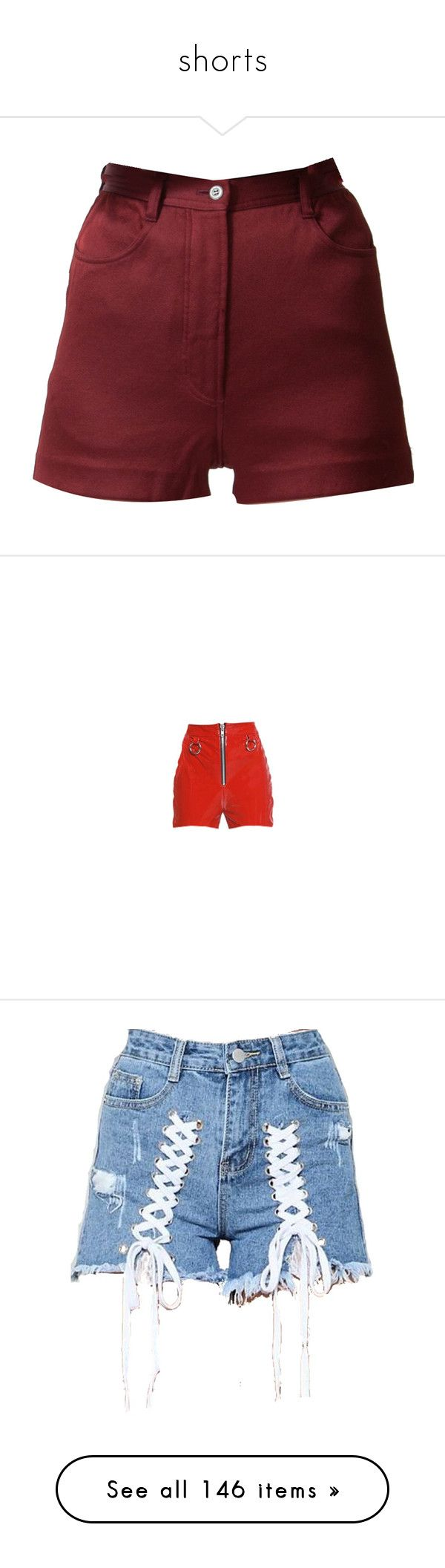 """""""shorts"""" by bittersweet-official ❤ liked on Polyvore featuring shorts, bottoms, silk shorts, high-waisted shorts, burgundy high waisted shorts, burgundy shorts, high-rise shorts, skirts, draw string shorts and loose fit shorts"""